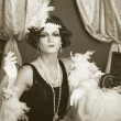 Retro flapper style woman — Stock Photo #48140855
