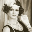 Retro flapper style woman — Stock Photo #48140973