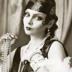 Retro flapper style woman — Stock Photo #48141069