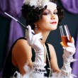 Retro flapper style woman — Stock Photo #48141107