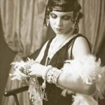Retro flapper style woman — Stock Photo #48141311