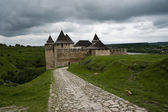 The Khotyn castle — Stock Photo