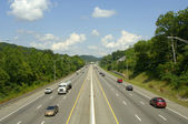 Six-Lane Highway with commuters, Interstate 40, Knoxville, TN, USA — Stock Photo