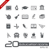 Education Icons // Basics — ストックベクタ
