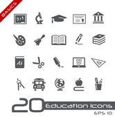 Onderwijs iconen // basics — Stockvector