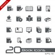 Stock Vector: Book Icons // Basics Series