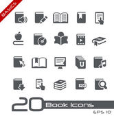 Book Icons // Basics Series — ストックベクタ