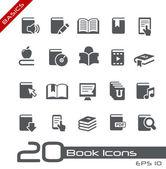 Icônes représentant des livres // série de bases — Vecteur