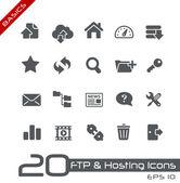 Ftp e ícones de hospedagem // séries básico — Vetorial Stock