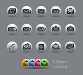 E-mail Icons // Pearly Series — Stock Vector