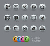 Communication Icons // Pearly Series — Stock Vector