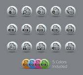 Documentos ícones - 1 de 2 // série perolado — Vetorial Stock