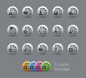 Documents Icons - 2 of 2 // Pearly Series — Stock Vector