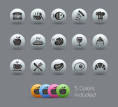 Food Icons - Set 1 of 2 // Pearly Series — Stockvektor