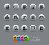 Book Icons// Pearly Series — Stockvector