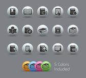 Iconos de libro // serie nacarada — Vector de stock
