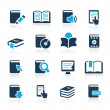 Book Icons // Azure Series — Stock Vector #13687856