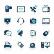 Communication Icons // Azure Series — Stockvector