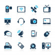 Communication Icons // Azure Series — Stock Vector