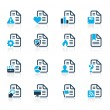 Documents Icons - 2 // Azure Series — Stock Vector
