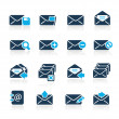 Stock Vector: E-mail Icons // Azure Series