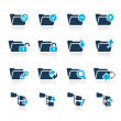 Folder Icons - 1 // Azure Series - Stock Vector