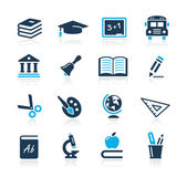 Education Icons // Azure Series — Stock Vector