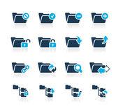 Folder Icons - 1 // Azure Series — Stock Vector