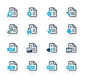 документы иконы - 1 / / azure серии — Cтоковый вектор