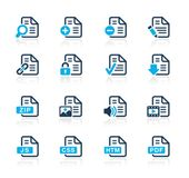 Documents Icons - 1 -- Azure Series — Stock vektor