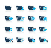 Folder Icons - 2 // Azure Series — Stock vektor