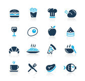 Food Icons - 1 // Azure Series — Vettoriale Stock