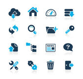 FTP & Hosting Icons // Azure Series — Stock Vector