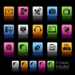 Communication Icons  // Color Box — Stock Vector