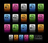 Documentos ícones - 1 caixa // cor — Vetorial Stock