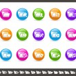 Folder Icons - 2 of 2 // Rainbow — Stock Vector
