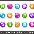 Royalty-Free Stock Vector Image: FTP & Hosting Icons // Rainbow