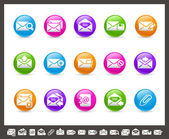 E-mail Icons // Rainbow Series — Vettoriale Stock