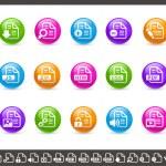Documents Icons - 1 of 2 // Rainbow — Stock Vector