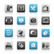 Royalty-Free Stock Vector Image: Communication Icons // Matte Series
