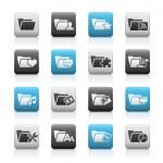 Folder Icons - 2 // Matte Series — Stock Vector
