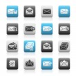 Stock Vector: E-mail Icons // Matte Series