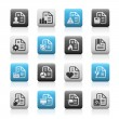Documents Icons - 2 // Matte Series — Stock Vector