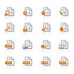 documenten pictogrammen - 1 - grafiet serie — Stockvector
