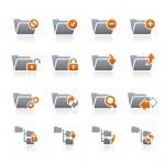 Folder Icons - 1 - Graphite Series — Stock Vector