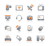 Communication Icons - Graphite Series — Stock Vector