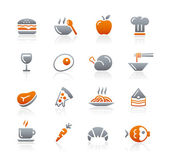 Food Icons - 1 - Graphite Series — Stock Vector