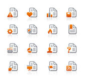 Documents Icons - 2 - Graphite Series — Stock Vector
