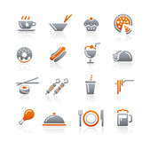 Food Icons - 2 - Graphite Series — Stock Vector