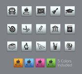 School & Education Icons -- Satinbox Series — Stock Vector